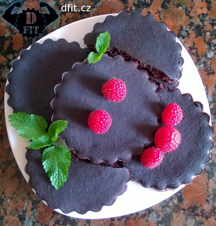 Fazolové kakaové brownies koláčky
